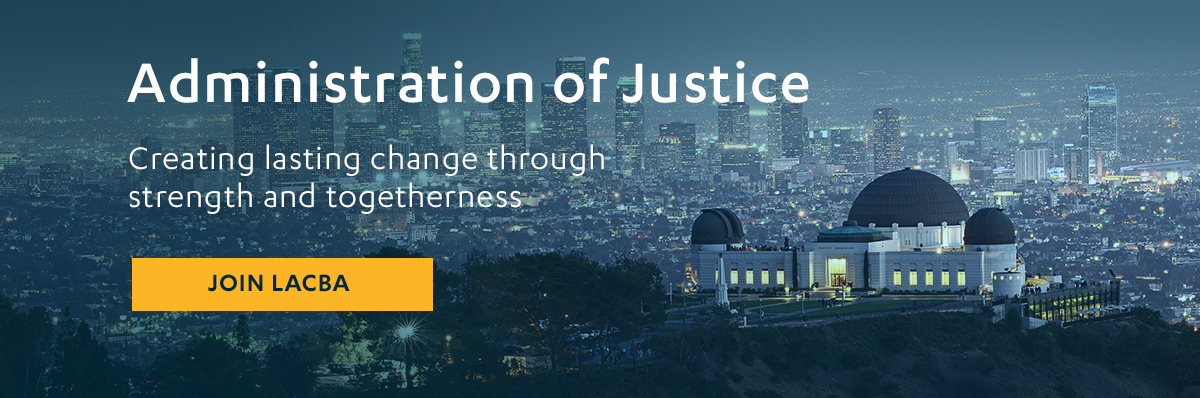 Administration of Justice Banner