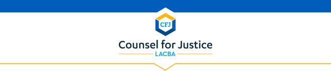 LACBA Counsel For Justice Banner