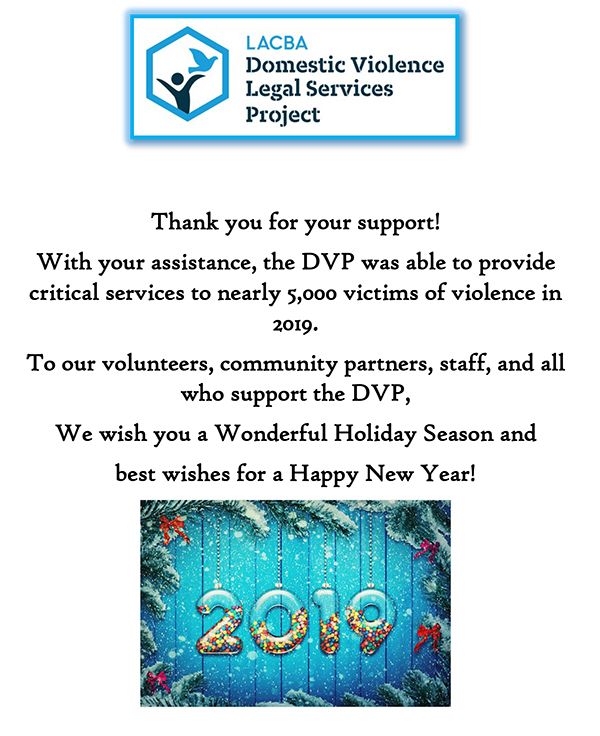DVP-Thank you for all your support in 2019