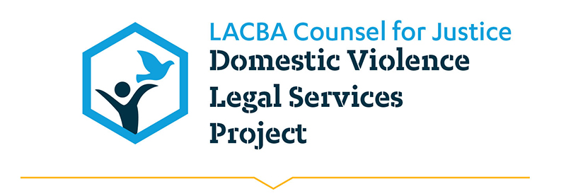 LACBA Domestic Violence Legal Services Project Banner