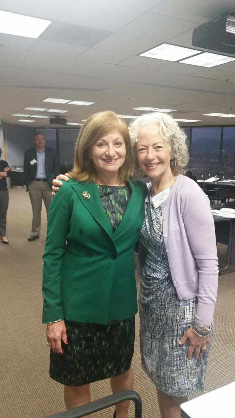 Ellen Pansky (left) shared a moment with Debbie Kelly.  Ms. Pansky presented on the ethical requirements of attorneys providing pro bono legal services.