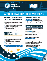 LACBA Veterans Project Upcoming Events Flyer