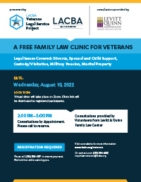 Veterans Free Family Law Clinic