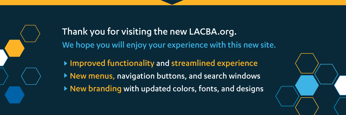 New LACBA Home Page