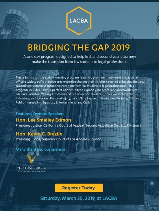 2019 Bridging the Gap - Reg Page Graphic Version F