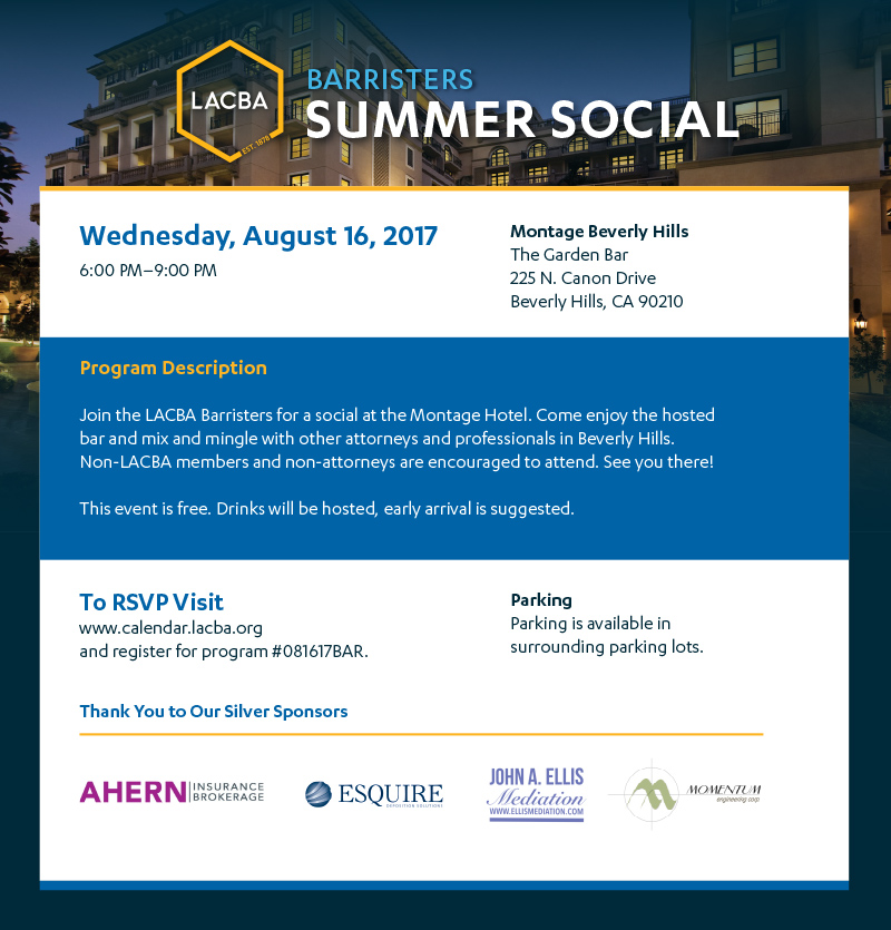 Barristers Summer Social Flyer 081617