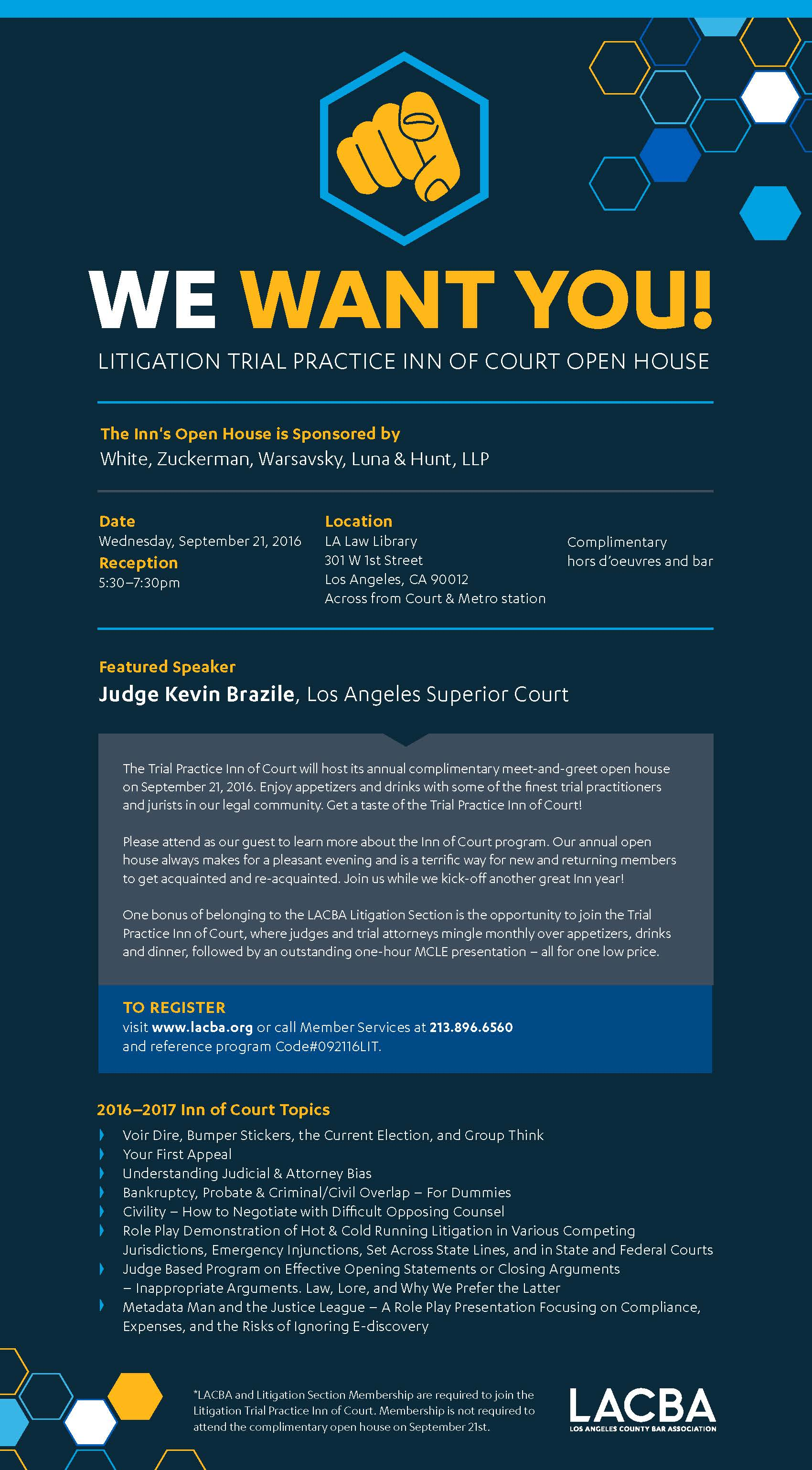 Litigation Section Inn of Court Open House