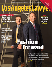 Los Angeles Lawyer Cover September 2017