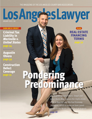 LA Lawyer Cover - January 2019