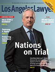 Los Angeles Lawyer magazine April cover
