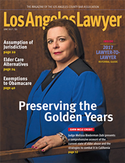 LA Lawyer June 2017 Cover