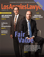 November 2017 Los Angeles Lawyer Cover