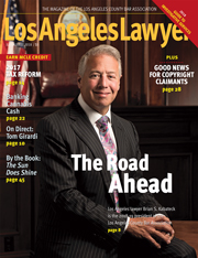 JulyAug Los Angeles Lawyer Cover