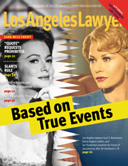 Los Angeles Lawyer magazine Cover 0518