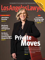 Los Angeles Lawyer magazine 0419