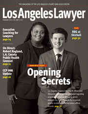 Los Angeles Lawyer February 2019