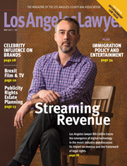 Los Angeles Lawyer magazine May 2017 Issue