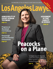 Los Angeles Lawyer magazine October 2018